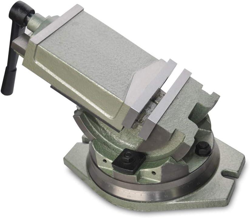 precisi/ón pinza Stock la dureza es de hasta 48hrc shioucy 100/mm tornillo M/áquina Tornillo de banco orientable inclinable giratorio