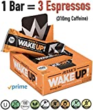 Jesse's WakeUP! All Natural Caffeinated Energy Bar (1 Bar = 3 Espressos) Dark