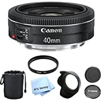 Canon EF 40mm f/2.8 STM Premium Lens Bundle- International Model