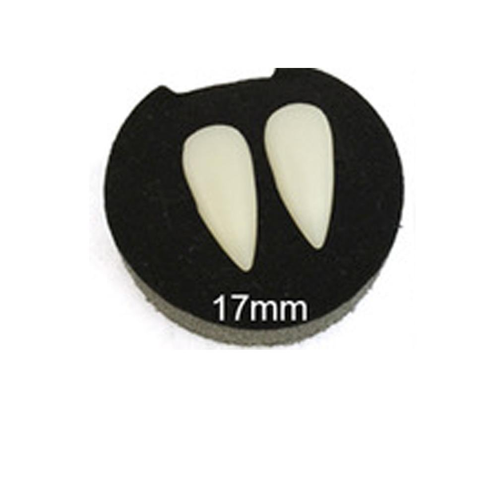 Boutiages 2Pcs Ghost Zombie Costume Halloween Vampire Fake Teeth Fangs Party Props