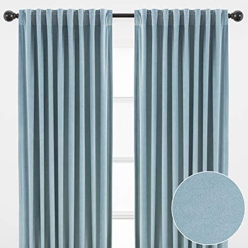 Chanasya 2-Panel Classy Solid Heavy Velvet Curtains