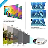 "Meyoung Portable Projector 1080P 1200 Lumens 150"" for Outdoor Indoor Movie Night, Support Blu-ray DVD Player, Laptops, Tablets, Smartphones and HD Games (TC80 White)"