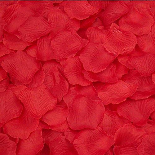 Yalulu Romantique Parfum/ée Bougies Lot DE 50 Bougies Forme de Coeur Damour 1000Pcs P/étales De Rose