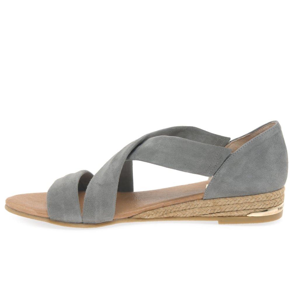 Pinaz Zara Damen Grey Espadrilles Grey Damen Suede (Siberia) 99f812