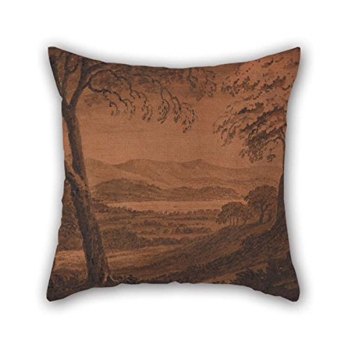 TonyLegner Cushion Cases of Oil Painting Mary Harcourt - Lake Morat from Avenches 16 X 16 Inches / 40 by 40 cm Best Fit for Teens Boys Dining Room Pub Birthday Lounge Her Two Sides -