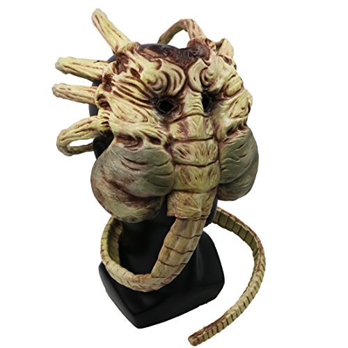 hearty lady Facehugger Mask Costume Props Accessories for Halloween Decorative Scary (Hugger Face Mask)