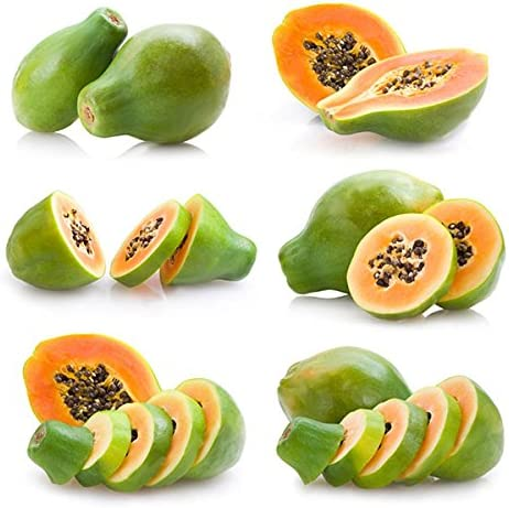 TENGGO Egrow 15Pcs//Pack Carica Papaya Seeds Organic Edible Fruit Sweet Papaya Bonsai Outdoor Tree Seed