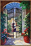Toland Home Garden Elegant Gate 28 x 40 Inch Decorative Colorful Spring Summer Flower Patio Fountain House Flag