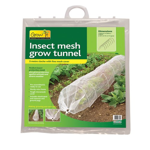- Gardman 7686 Insect Mesh Grow Tunnel, 10' Long x 18