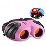 TOP Gift Teen Girl Gifts, Compact Binocular for Kids Toys for 3-12 Year Old Girls Pink TTG09