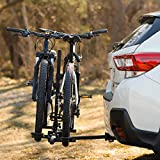 """Dependable Direct Hitch Mount Bike Rack Carrier for Truck, SUV, and Car - Platform Tray Style, Compact Folding Design - 2-Bike Capacity for 1.25"""" and 2"""" Hitch Receivers"""