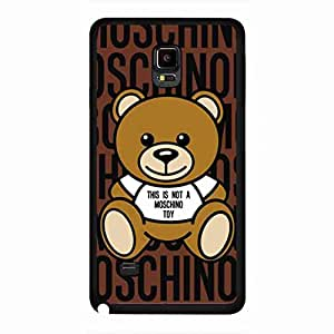Moschino Custom Rubber Phone funda Fit for Samsung Galaxy Note 4,This is not a Moschino Toy Bear Design Phone funda
