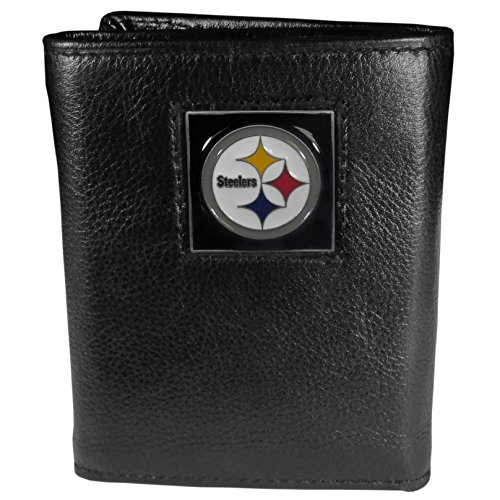 - NFL Pittsburgh Steelers Genuine Leather Tri-fold Wallet
