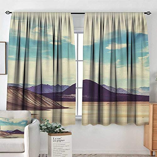 (curtains for living room Landscape,Photograph Northern Brazilian Plateau Wanderlust Serene in Abandoned Rocks Paint,Multicolor,Decor Collection Thermal/Room Darkening Window Curtains 42
