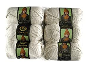 Lion Brand Yarn Wool-Ease Thick and Quick Yarn, (6-Pack), Fisherman 640-099