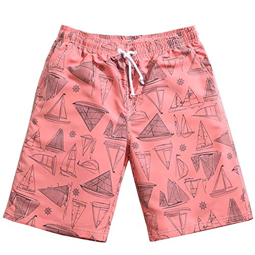 Lightweight Mesh Suit (nuosife Men's Swim Trunks Loose Lightweight Quick Dry Sailing Pattern Boardshorts Full Mesh Lining)