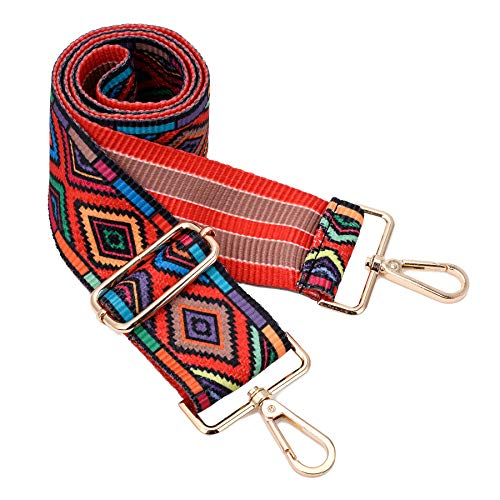 Embroidered Luggage Strap - Wide Shoulder Strap Adjustable Replacement Belt Crossbody Canvas Bag Handbag (wide:1.97