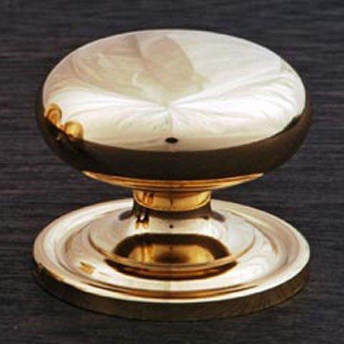(RK International RKI R.K. International CK 3216 ATB Large Solid Plain Knob with Backplate, Polished Brass,)