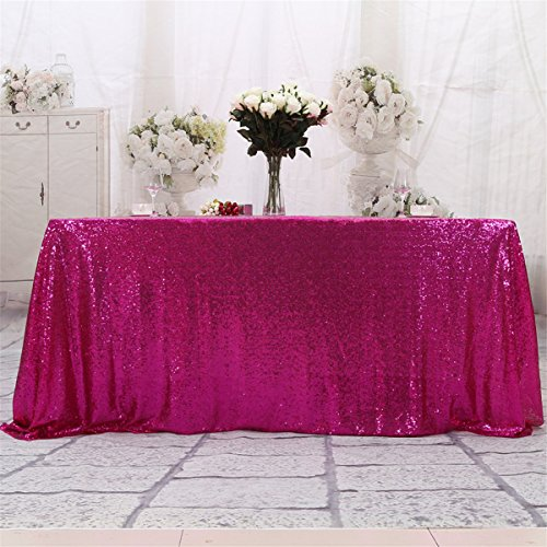 Eternal Beauty Square Sequin Tablecloth, Sequin Table Linen (90