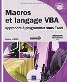 Macros et langage VBA - apprendre à programmer sous Excel