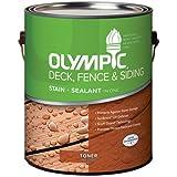 olympic ppg inc 55263a/01 Gallon, Cedar, Acrylic Oil Fence & Siding Stain & Sealant In One,