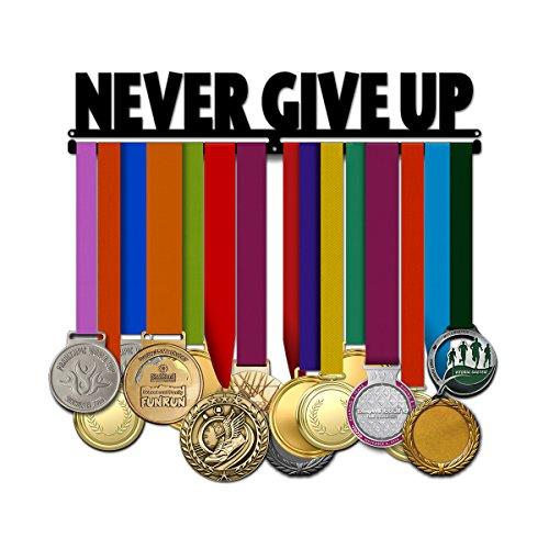 - Believe&Train Never Give Up - Motivational Medal Hanger