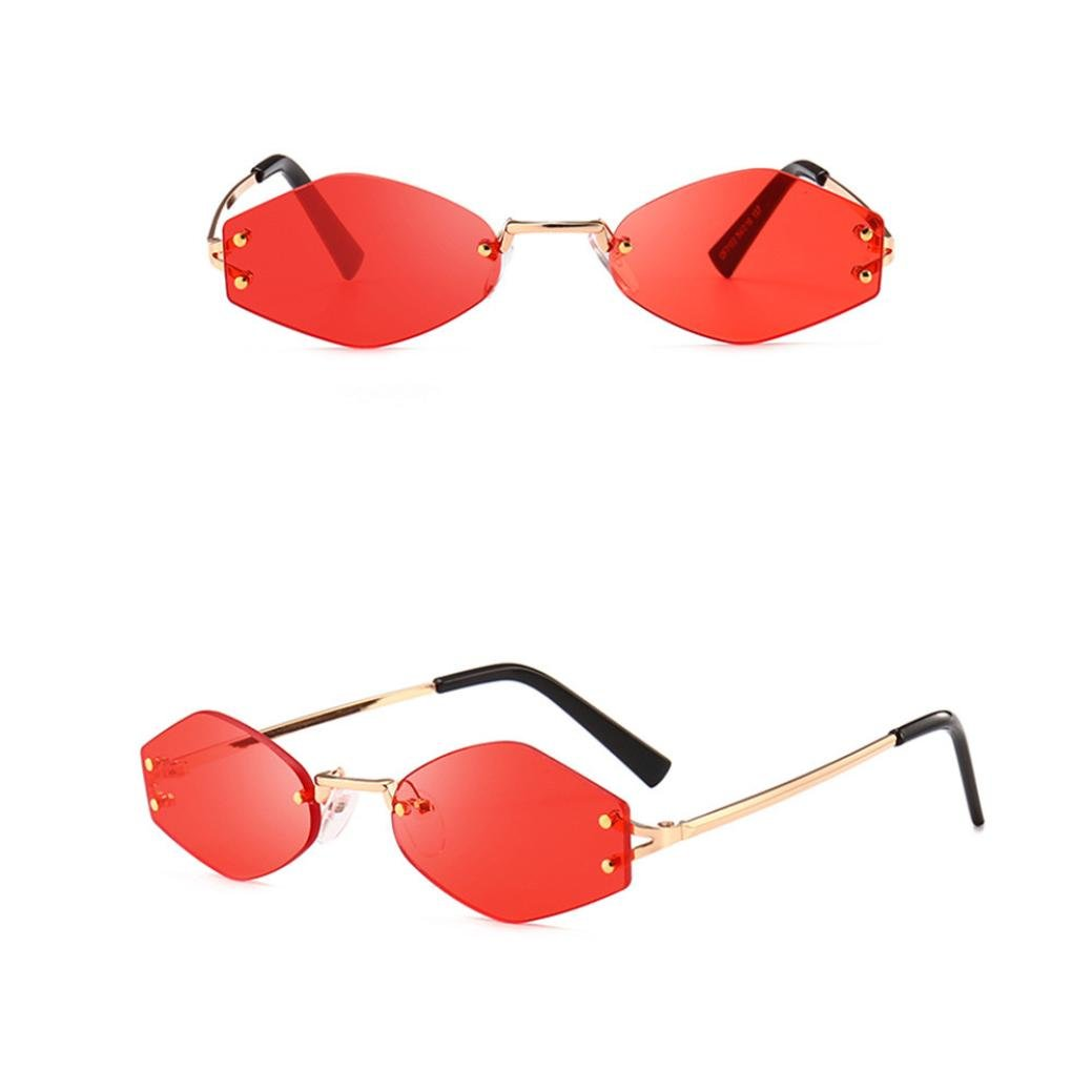 Limsea Hot Sale!Women Cat Eye Shades Sunglasses Integrated UV Candy Colored Glasses