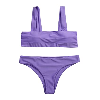 Mujer Conjunto De Bikini De Croché Estampado Espalda Abierta de baño Bikini,+2 PCS
