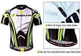 Bike Shirts for Men,Spin Bicycle Cycling Jersey Man Biking Tops Breathable Short Sleeve Riding Shirt Asia XL/US L Green White