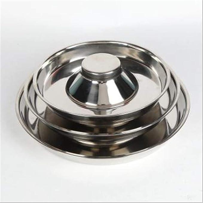 XIUNPR-6 Pet Dog Bowl - Comedero de Acero Inoxidable para Cachorros Alimentador de Platos Alimentador de Agua, para Gatos, Perros, Perros Grandes, Gatitos y Cachorros (L)