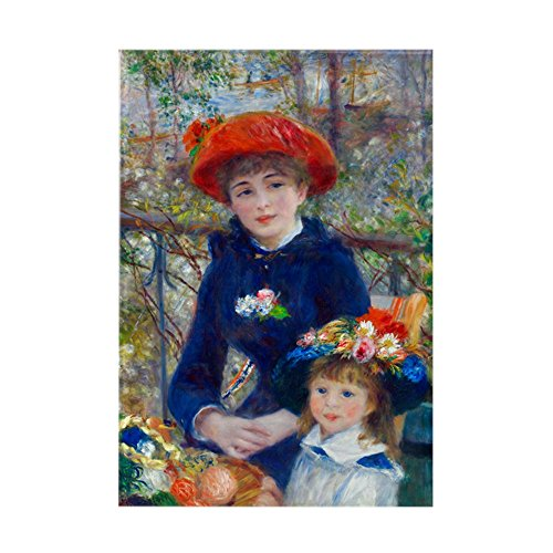 CafePress Renoir - Two Sisters Rectangle Magnet Rectangle Magnet, 2