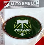 Portland Timbers Raised Metal Domed Oval Color Chrome Auto Emblem Decal MLS Soccer Football Club