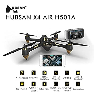 HubsanH501A X4 Air Pro BRUSHLEES WIFI Quadcopter Drone 1080P HD Camera GPS Live Video RTF from Hubsan