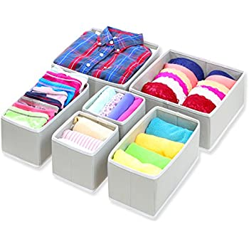 SimpleHouseware Foldable Cloth Storage Box Closet Dresser Drawer Divider Organizer Basket Bins for Underwear Bras  sc 1 st  Amazon.com & Amazon.com: SimpleHouseware Foldable Cloth Storage Box Closet ... Aboutintivar.Com