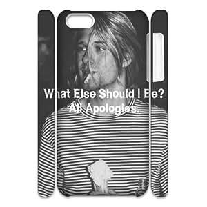 Kurt Cobain Personalized 3D Case for Iphone 5C, 3D Customized Kurt Cobain Case