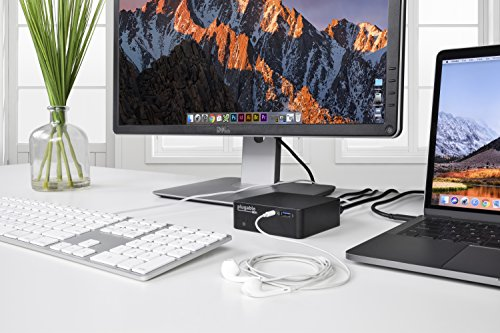 Plugable USB-C Mini Docking Station with 85W Charging for Thunderbolt 3 and USB-C MacBooks and Select Windows Systems (HDMI up to 4K@30Hz, Gigabit Ethernet, 4x USB 3.0 Ports, USB Power Delivery) by Plugable (Image #2)