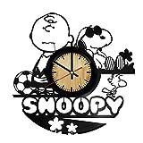 Snoopy Vintage Office Decor Vinyl Record Wall Clock Wedding