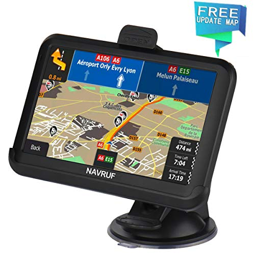 GPS Navigation for Car, 5 Inch 8GB HD Touch Screen Built-in 256MB GPS Navigation System,Voice Navigation for Car GPS,Navigator with Lifetime Map Update (GPS) (Black)