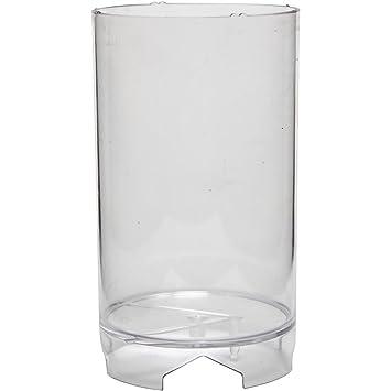 Molde para velas, medidas 130x82 mm, medida mecha 21 , Bloque cilíndrico, 1ud: Amazon.es: Hogar