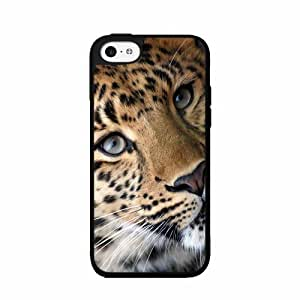 Beautiful Leopard Animal - Plastic Phone Case Back Cover (iPhone 5c Black)
