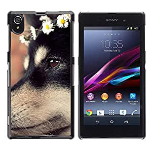 Vortex Accessory Carcasa Protectora Para Sony Xperia Z1 L39 C6902 C6903 C6906 C6916 C6943 - German Shepherd Dog Puppy Flowers -