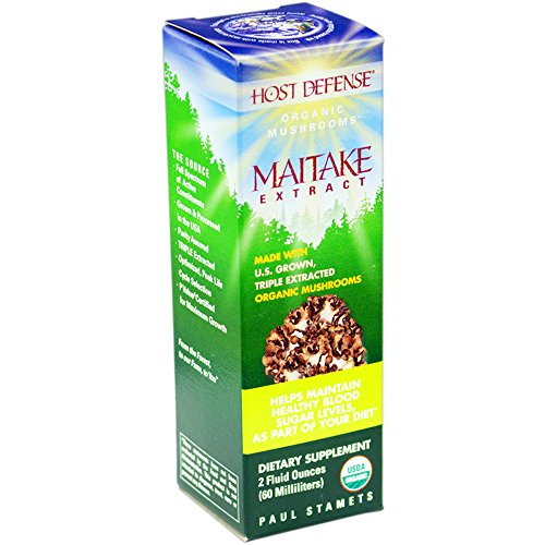 Host Defense - Maitake Extract Mushroom Support for Blood Sugar, 60 Servings (2 oz)