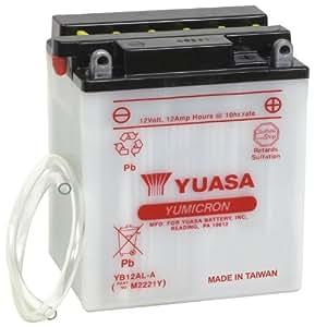 yuasa yuam2221y yb12al a battery automotive. Black Bedroom Furniture Sets. Home Design Ideas