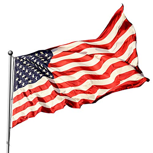 - American Flag 3x5 - USA US Nylon Outdoor Flag 3x5 Ft - Sewn Stripes Brass Grommets.Vibrant Bright Colors, Light Weight & American Flag Proud to Display for Outdoor.