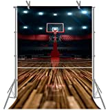 FUERMOR 5x7ft High-End Basketball Court Photography Backdrop Studio Photo Props For Basketball Lover M159