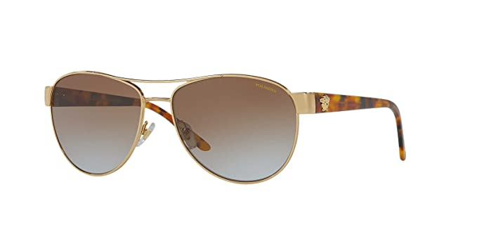 d06e44f2dbda Versace Womens Only At Sunglass Hut Sunglasses (VE2145) Gold/Brown Metal -  Polarized