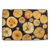 KEPSWET Retro Fashion Rural Style Rugs Large Livingroom Coffee Table Rug Brown Black Bedroom Carpet Non-slip Washable Tree Rings Area Rug (2'6×3'9, photo color) Review