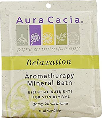 Aura Cacia Aromatherapy Mineral Bath, Relaxation, 2.5 Ounce