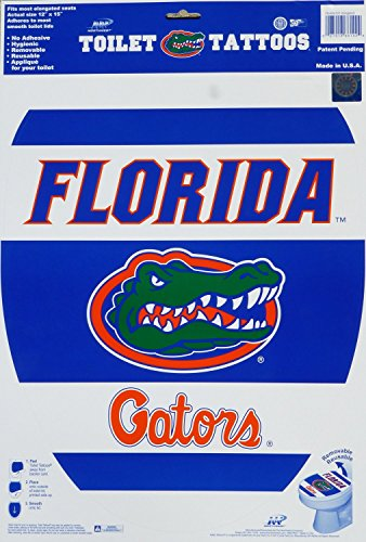 (Toilet Tattoos, University of Florida - Florida Gators, Decorative Applique for Toilet Lid, Elongated 12 X 15)