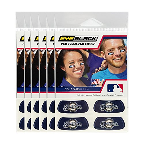 (24 Strips) Milwaukee Brewers MLB Eye Black Anti